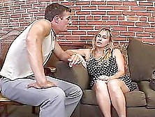 Wanda Lust Fucks Two Guys And Gets Loads Of Cum On Her Tits
