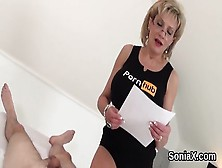 Cheating British Mature Lady Sonia Presents Her Oversized Hooter