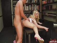 High-Heeled Bimbo Getting Fucked In A Library