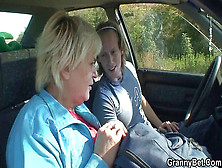 Aged Grandmother Getting Fucked Roadside