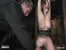 19Yr Old Sara Scott Bound,  Gagged And Whipped Extremely Hard And