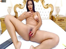 Karolstone Livejasmin Latina Big Tits Masturbate And Squirt