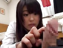Japanese Girls Wanking Off A Lucky Lad