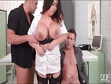 Huge Tits Asian In Hot Hardcore Threesome