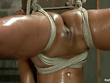 Bondage With Her Legs Spread Wide Open For Him