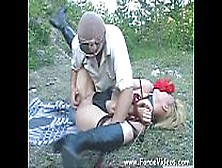 Masked Man Rapes A Women Hard In Garden,  Extreme Www. Forcevideos