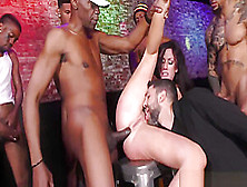 Bbc Slut Cuckolds Boyfriend By Getting Gangbanged At A Nightclub