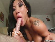 Beautiful Buxomy Oriental Asa Akira Is Sucking Cock Very Deep