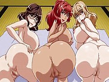 Big Cock Must Choose Between Blonde,  Redhead Or Brunette To Fuck | Anime Hentai