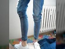 трамплинг в кроссовках какие-то деревянные лафеты