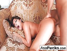 Astonishing Asian Woman,  Asa Is Having Steamy Sex With Keni,  While His Wife Is At Work