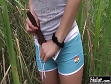 Adelle Enjoys To Masturbate In The Grass