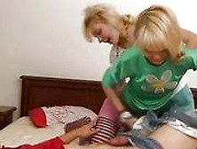Threesome Ffm Teen Sex On The Bed