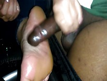 Co-Worker Giving Her First Handjob With Feet