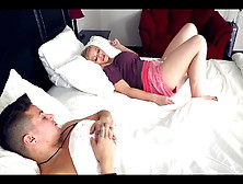 Sharing Bed In A Hotel With Stepmom On Vacation