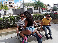 Ria Rodriguez Sucks A Weiner In A Car And Gets Banged Outdoors