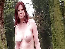 Redhead Holly Kiss Flashing In Public And Outdoor Dildo