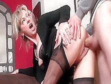 Hot Cougar Housewife Gets Some Loving
