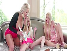Sexy Lesbian Threesome With Chloe And Nina With Kenzie