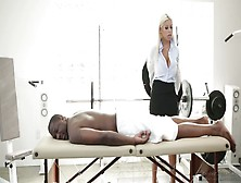 Big Tittied Masseuse Bridgette B Pleases Black Client Like Nobod