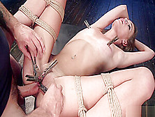 Slave Trainer Rough Bangs Brunette Sub