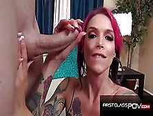 Hot Woman With Many Tattoos And Big Tits,  Anna Bell Peaks Is Suc