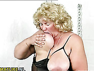 Solo Mature Bbw Plays With Her Tits And Cunt
