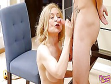 Mature Blonde Woman Is In Love With A Younger Guy,  Tyler Nixon A