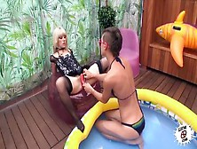 Blonde Porn Video Featuring Nora Barcelona And Julia Roca