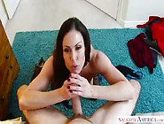 Stepmom Kendra Lust Shows Her Sexy Stockings
