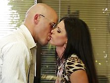 India Summer Fucks A Salesman Across Her Office Desk