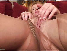 Cougar Pussy Seen Through Stockings