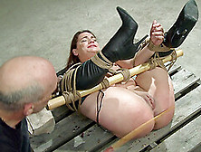 Brunette In Bondage Screams And Moans As She Gets Abused Hardcor