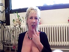 German Granny Catch Masturbate And Seduce Fuck By Young Guy