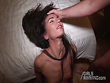 Pretty Brunette Is About To Show Her Rimming Skills And Get Cum