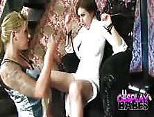 Blonde And Brunette Lesbians Cosplay Sex