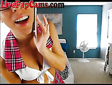 Very Hot Webcam Show With Blonde