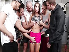 Rough Dp Gangbang Session With Sexy Britney Amber
