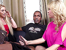 Sexy Blondes Getting Slammed By Black Cock In Raunchy Interracial Ffm Threesome