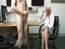 Fine Office Blonde Loves The Sight