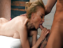 Nina Hartley Is Sucking Cock And Licking Balls