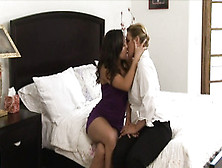 50 Yr Old Busty Lesbian Milf Has Her Pussy Eaten By Young Teeny