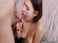 Kissable Teen Gapes Narrow Slit And Gets Deflorated