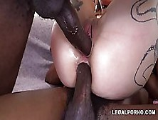 Inked Babe,  Luna Lovely Is Offering Her Dripping Wet Pussy And Ass To Some Black Guys