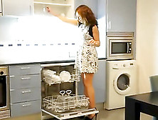 Very Hot Amateur Maid Fucked In The Ass With Heels In The Kitchen