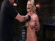 Busty Blonde Milf Gets Hogtie In Dungeon