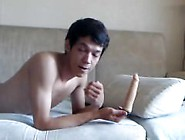 Cute Russin Boy Play With Two Dildos