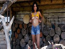 Big Tits Black Teen Striptease Outdoor Before Blonde