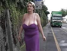 Grassouillette mature big boobs solo