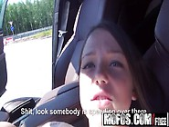 Stranded Teen Foxy Di,  Get Back Doored In The Backseat - Mofos